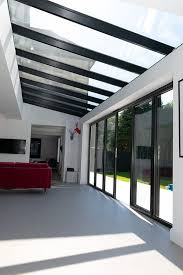 glass roof over bifold doors glass