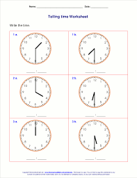 Printable math worksheets telling time   Download them and try to solve