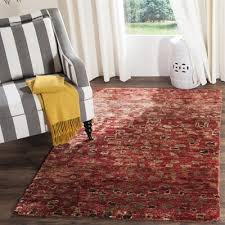 safavieh tgr646a tangier hand knotted red multicolor area rug lowe s canada