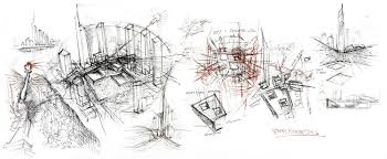 architectural buildings drawings. Beautiful Buildings Daniel Libeskind Sketches In Architectural Buildings Drawings