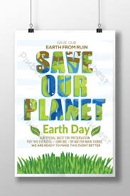 Miscellaneous Save Our Planet Earth Day Flyer Templates