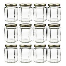 ball 9 count 24 ounce wide mouth jars with lids and bands. 6oz large hexagon glass jars (12 pack) hex bulk value pack of ball 9 count 24 ounce wide mouth with lids and bands
