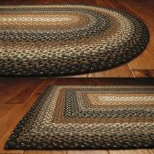 country cotton braided area throw rugs oval rectangle 20x30 8x10 cocoa bean