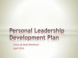 Personal Leadership Development Plan Ppt Download