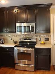 Brown Painted Kitchen Cabinets Wonderful Full Version Eiforces With Simple Design