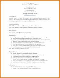 9 Resume Word Doc Activo Holidays