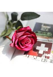 tenflyer diy bridal bouquet velvet artificial rose flow