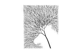 wire tree wall art rectangular metal