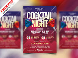 Cocktail Party Flyer Psd Template Psdfreebies Com