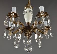 antique gold crystal chandelier spanish brass amp crystal chandelier c vintage antique