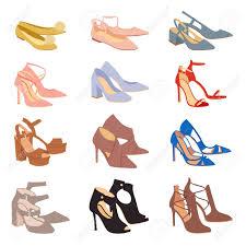 Footwear Design Womens Shoes Flat Fashion Footwear Design Vector