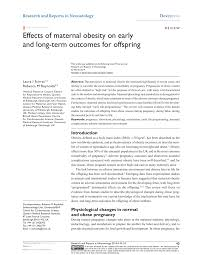 British Heart Foundation Bmi Chart Pdf Effects Of Maternal Obesity On Early And Long Term