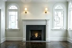 pictures of black fireplace mantels black painted