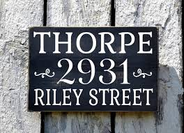Wood Address Signs Outdoor Decor Address Signs Personalized Outdoor Street Address Wood Plaque 12