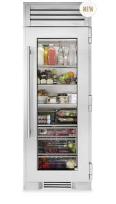 glass front fridge. Brilliant Front True Residential  30 With Glass Front Fridge T
