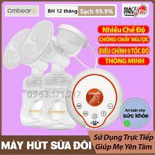 Máy hút sữa điện đôi massage cao cấp thương hiệu CMBEAR chất liệu an toàn  cho mẹ và bé - CMB23 tại Hà Nội