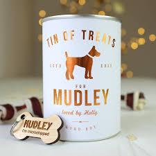 personalised tin of dog treats