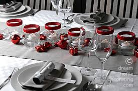 Decorated Jam Jars For Christmas Christmas Table With Jam Jar Lighting 17