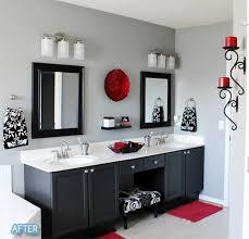 Ideas for organizing the bathroom. Bathroom RedBlack ...