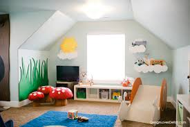 Check out this awesome playroom-- here's the tutorial for the wood snail  slide!