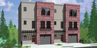 d 489 modern town house plans duplex house plans sloping lot house plans