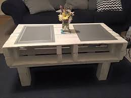 pallet furniture coffee table. diy rustic pallet coffee table white furniture