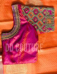 Saree Blouse Hand Work Designs Vibrantcolours Silk Saree Blouse Blouse Designs Silk