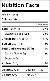 nutrition info for oyster stew