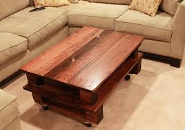 Furniture Accessories:Creative Coffee Table Design Square Brown Pallet Sofa  Table With Glass Table Top