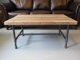industrial furniture legs. Reclaimed Wood Coffee Table Industrial Pipe Legs Dendroco Furniture