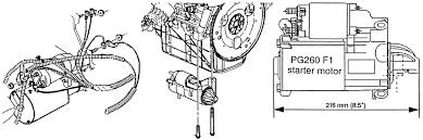 repair guides starting system general information autozone com starter motor arrangement 3 4l vin e engine shown