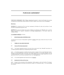 Contract Of Sale Motor Vehicle Car Purchase Agreement Used Template ...