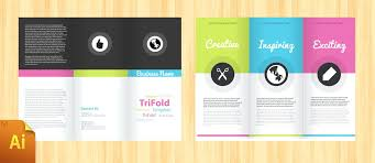 Simple Brochure Template Vector Free Download Pamphlet Broucher ...