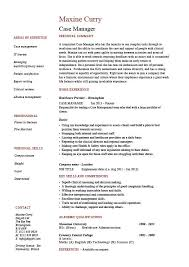 Resume Format Examples For Job Classy Case Manager Resume Template Sample Example Job Description CV