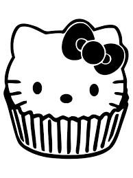 Cupcakes Kleurplaten Cupcake Hello Kitty