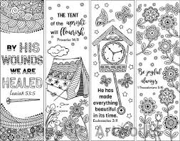 The printable coloring pages are all free and can be used in your printed projects, personal or commercial. Set Of 8 Bible Verse Coloring Bookmarks Bookmark Doodles Etsy