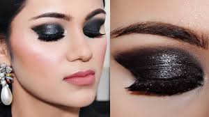 3 step black smokey eye makeup for beginners tutorial in hindi with tips