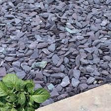 40mm plum slate chippings in bulk bags