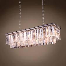 stunning odeon glass fringe rectangular chandelier 1 502614 01 furniture marvelous odeon glass fringe rectangular chandelier
