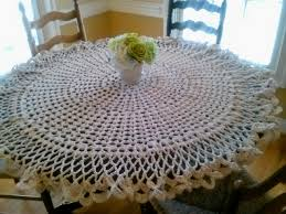 Table Cloth For Round Table Dining Room Checkered Tablecloth Beaded Table Runner White