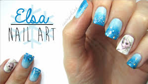 Elsa Frozen Nail Art! - YouTube