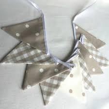 MINI BUNTING Laura Ashley Dark Linen Gingham Taupe Spots FREE P & P | eBay