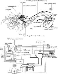 Evaporative emission system ponents and operating schematic1999 4runner with 3rz fe engine shown others similar