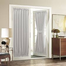 aquazolax patio door curtain panel room darkening blackout drapes 54 x 72 inch with rod pocket for french single panel greyish white drapes patio doors z85 patio