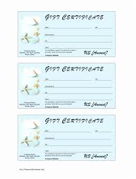 Gift Certificate Word Template Gift Certificate Template Free Word Best Of Gift Certificate Word 20