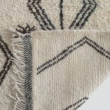 black and cream rug. Nura Beni Ourain Rug 3\u0027 X 5\u0027 Black And Cream F