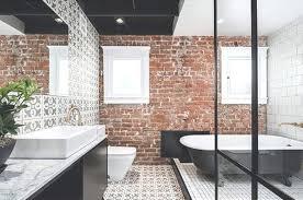 brick wall brick bathroom