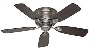hunter 51060 low profile iv 42 inch antique pewter ceiling fan with 5 dark walnut chestnut blades