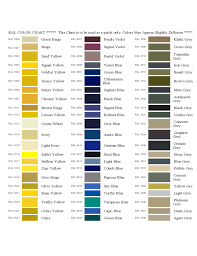 Ral Blue Color Chart Sample Ral Color Chart Free Download