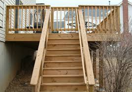 building exterior wooden stairs four methods for attaching wood